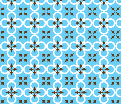 Bright Blue Mod Circle fabric by audreyclayton on Spoonflower - custom fabric