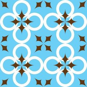 Bright Blue Mod Circle