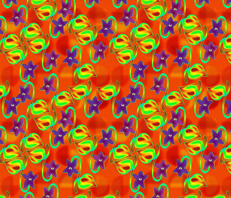 ©2011  Wild Violets fabric by glimmericks on Spoonflower - custom fabric