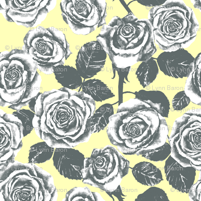 Yellow and Grey Roses