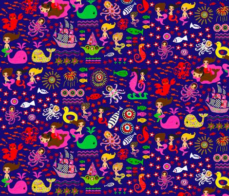 Ocean Fantasy fabric by orangefancy on Spoonflower - custom fabric