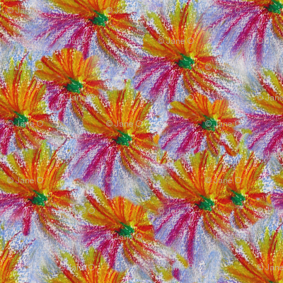 Pastel_drawing_massed_flowers