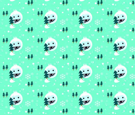 yeti_ice_cream fabric by spacepafpaf on Spoonflower - custom fabric
