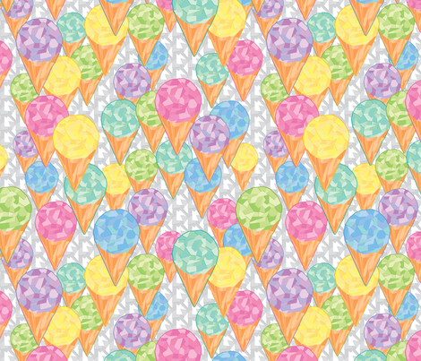 Ice Cream fabric by leighr on Spoonflower - custom fabric