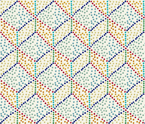 Medium Egyptian palette dots fabric by su_g on Spoonflower - custom fabric