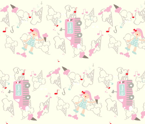 ice cream oops! fabric by fabricfarmer_by_jill_bull on Spoonflower - custom fabric