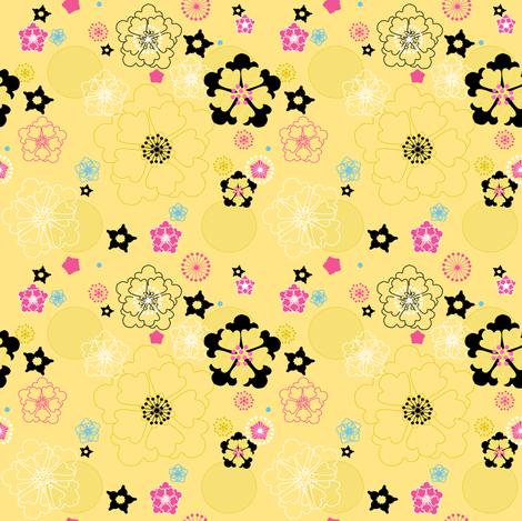 Bright Summer Garden -  © PinkSodaPop 4ComputerHeaven.com fabric by pinksodapop on Spoonflower - custom fabric
