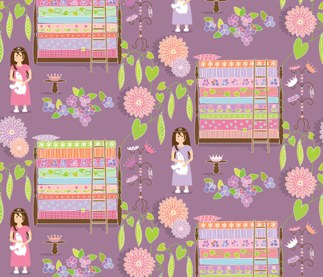 The Princess & the Pea fabric by kayajoy on Spoonflower - custom fabric