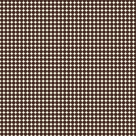 Dots_Brown-Cream fabric by animotaxis on Spoonflower - custom fabric