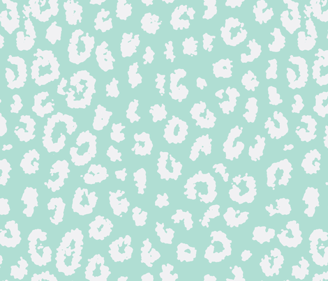 summer leopard in aqua fabric by domesticate on Spoonflower - custom fabric