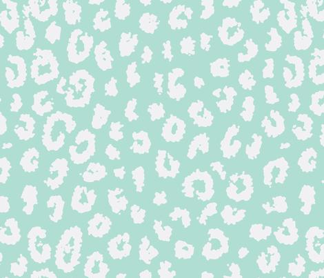 summer leopard in aqua fabric by domesticate on Spoonflower - custom fabric