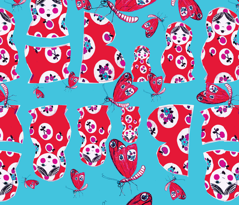 b is babushka-ch fabric by missjessm on Spoonflower - custom fabric