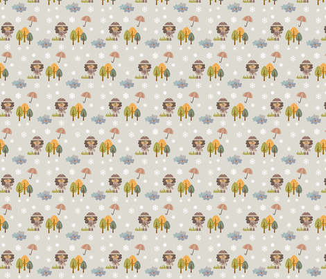 Winter in the forest fabric by sawabona on Spoonflower - custom fabric