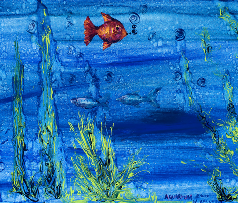fishie fabric by nerdlypainter on Spoonflower - custom fabric