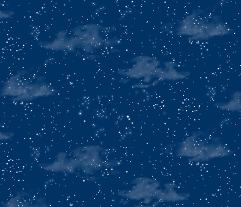 Summer night sky forest sea spoonflower for Starry sky fabric