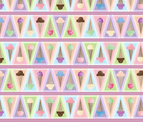 ice_cream_bunting fabric by eclectic_mermaid on Spoonflower - custom fabric