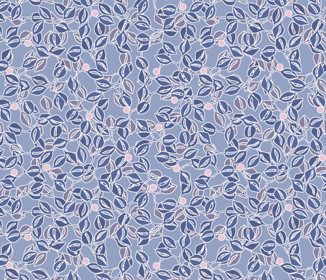 © 2011 leaves and berries ice fabric by glimmericks on Spoonflower - custom fabric