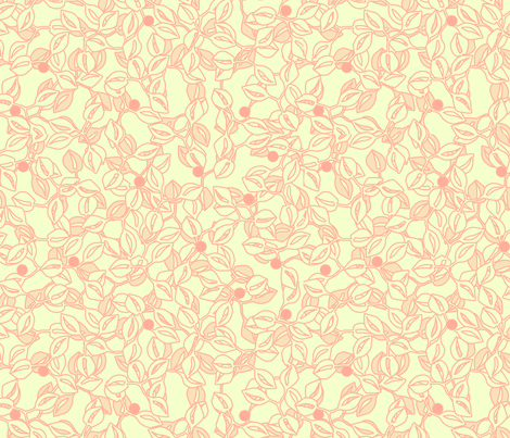 © 2011 leaves and berries lipstickpineapple fabric by glimmericks on Spoonflower - custom fabric