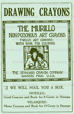 1915 non-poisonous crayons advertisement