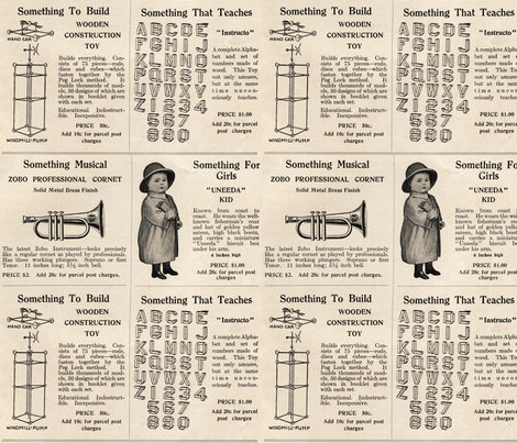 1915 Toy advertisements (large scale) fabric by edsel2084 on Spoonflower - custom fabric