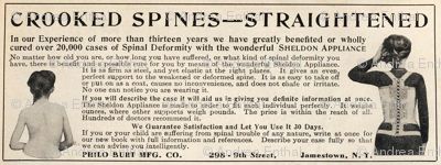 1915 deformed spine cure ad