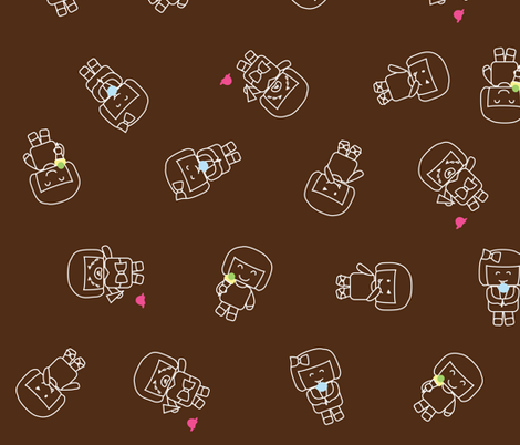 Ice cream feelings fabric by mariao on Spoonflower - custom fabric