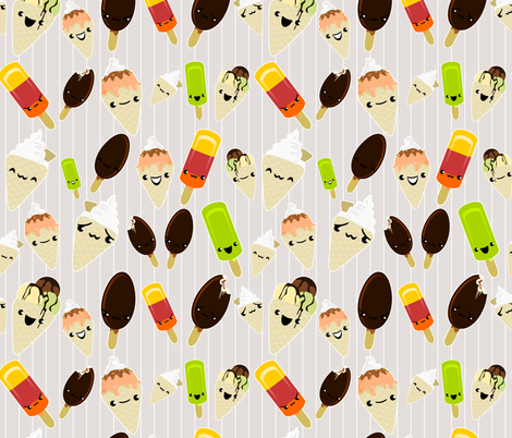 Glaces en folie fabric by kobaitchi on Spoonflower - custom fabric