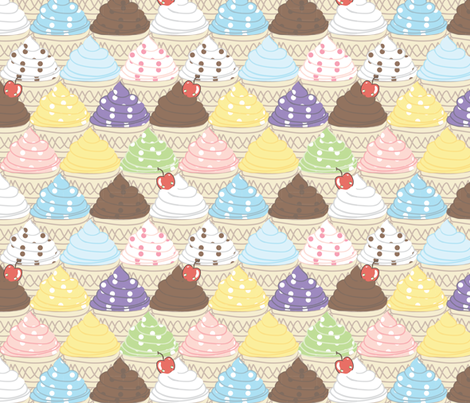 Ice Cream Carnival fabric by majobv on Spoonflower - custom fabric