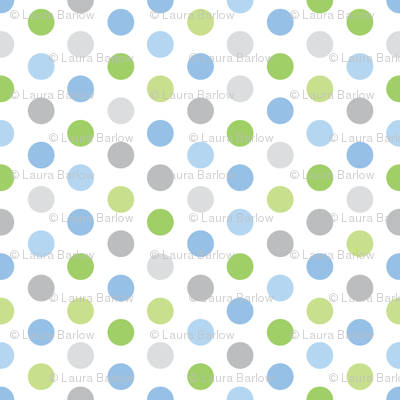 Baby Boy Blue Antarctic polk-a-dot pattern 1