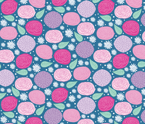 Mary Flowers fabric by babysisterrae on Spoonflower - custom fabric