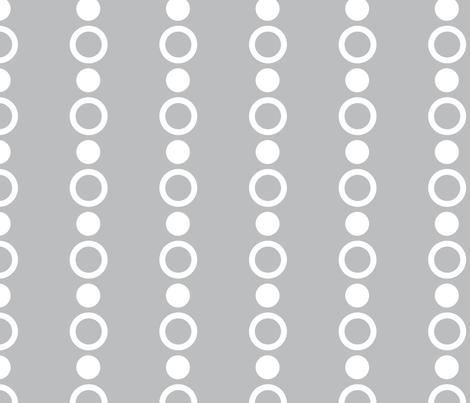 Baby Boy Antarctic dot pattern gray fabric by doodletrain on Spoonflower - custom fabric