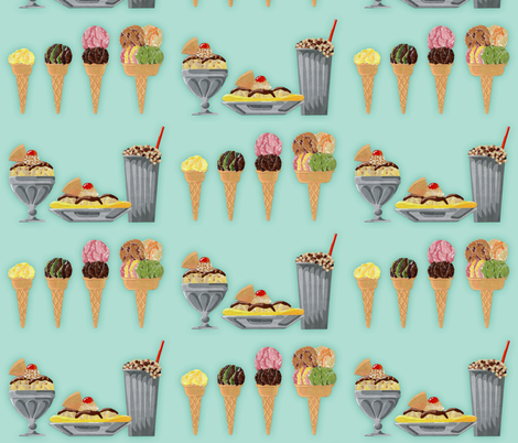 ice_cream fabric by karenmayo on Spoonflower - custom fabric