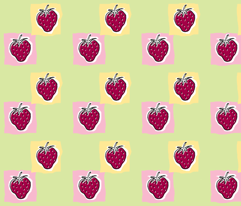 Strawberry Sundae fabric by woodle_doo on Spoonflower - custom fabric
