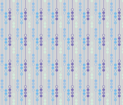 Mod Dot - Blue Beads fabric by leighr on Spoonflower - custom fabric