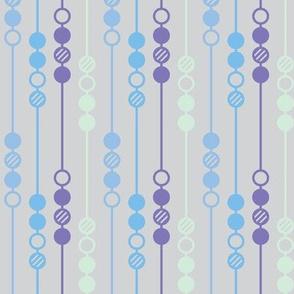 Mod Dot - Blue Beads