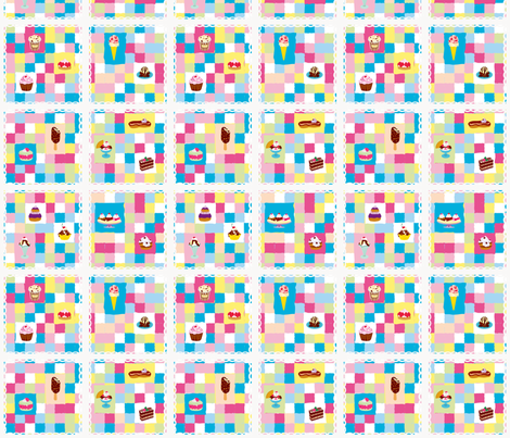 Yummy check fabric by made_in_shina on Spoonflower - custom fabric