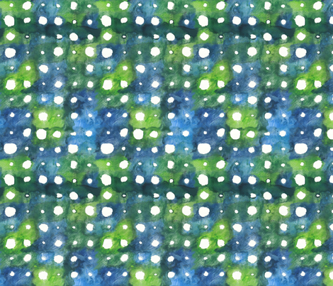 Green Wheel Dots fabric by fussypants on Spoonflower - custom fabric