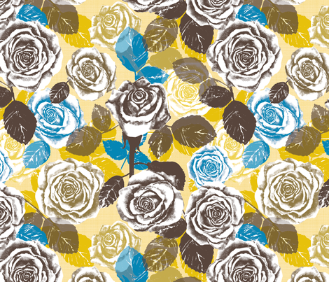 Alayna's Autumn roses 2 fabric by twobloom on Spoonflower - custom fabric