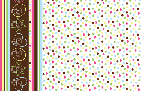 Ice cream feeelings border fabric by mariao on Spoonflower - custom fabric