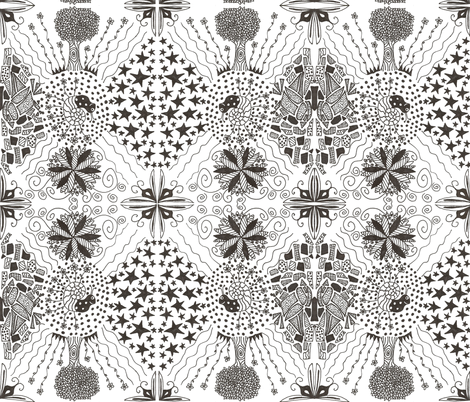 Zentangle Me This, Little Snail... fabric by tylerstrain on Spoonflower - custom fabric