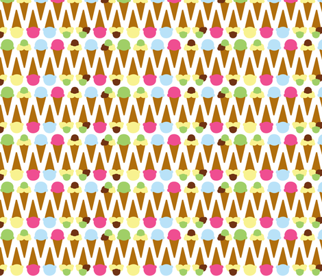 too much ice cream? fabric by mariao on Spoonflower - custom fabric