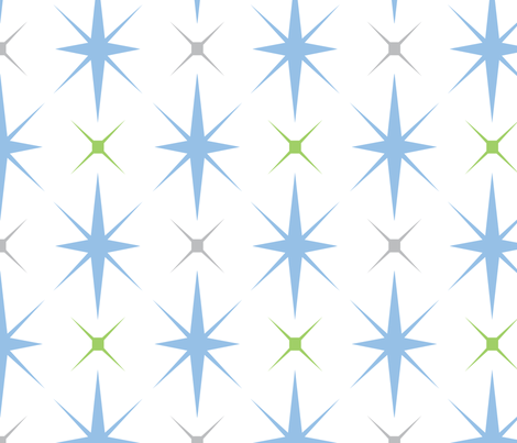Baby Boy Antarctic snowflake pattern 2 fabric by doodletrain on Spoonflower - custom fabric
