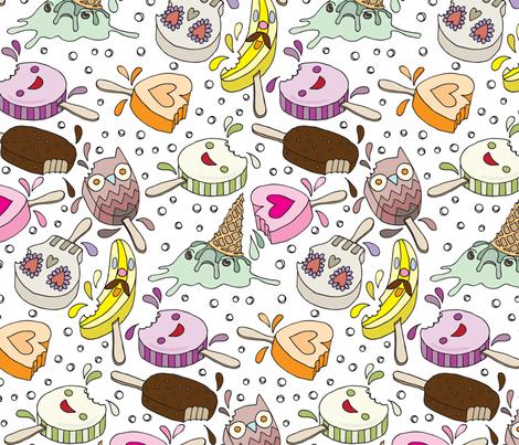 Ice Cream Crime Scene fabric by sammyk on Spoonflower - custom fabric