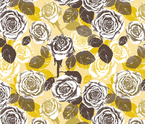Alayna's Autumn roses fabric by twobloom on Spoonflower - custom fabric