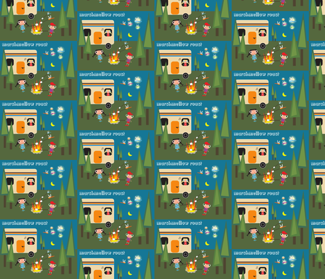 Marshmellow Roast fabric by noelle*nikas on Spoonflower - custom fabric