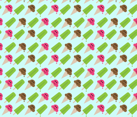 Happy Cones fabric by inktreepress on Spoonflower - custom fabric