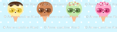 Kawaii Ice Cream Friends