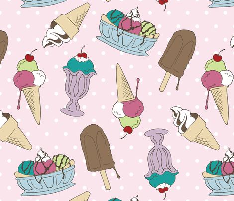 Ice cream fabric by anneawong on Spoonflower - custom fabric