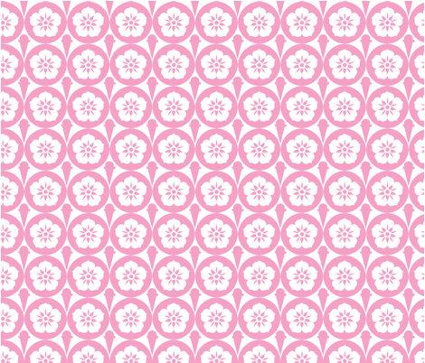 IceCreamFlowers fabric by laurenredig on Spoonflower - custom fabric
