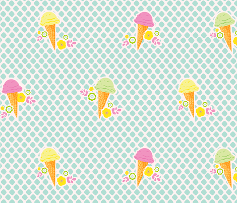 WeAllScreamForIceCream-ch-ch fabric by flock on Spoonflower - custom fabric